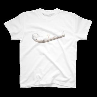 Yusuke SAITOHの白いパイプTシャツ