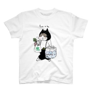 お買い物ねこのTシャツ Tシャツ