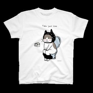 ほっかむねこ屋@ 1/6→1/12  にゃんこ展 / 原宿デザフェスギャラリーのトイレねこ 黒 Tシャツ