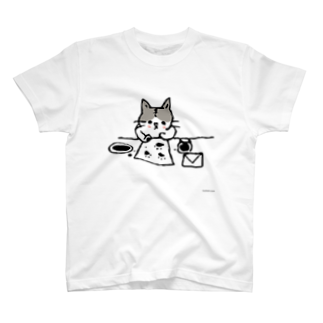 ほっかむねこ屋@ 1/6→1/12  にゃんこ展 / 原宿デザフェスギャラリーのおてがみねこ Tシャツ