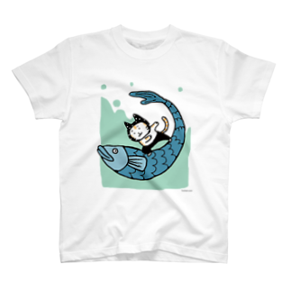 ほっかむねこ屋@9/3−9 東急ハンズ池袋1Fのなみのりねこ Tシャツ