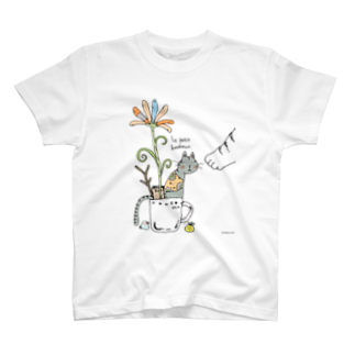 ほっかむねこ屋@ 1/6→1/12  にゃんこ展 / 原宿デザフェスギャラリーのかっぷねこのしあわせ Tシャツ