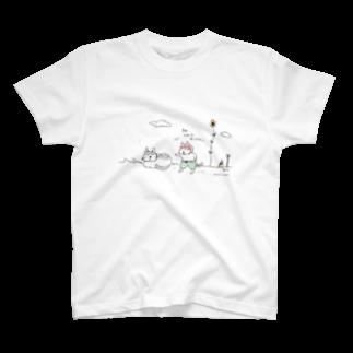 ほっかむねこ屋@10/5~10/10 吉祥寺駅 期間限定ショップのきみ、変わったねこだね Tシャツ
