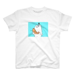 ちょんまげなシロクマ Tシャツ
