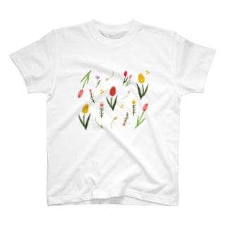 ふんわり花柄 大 Tシャツ