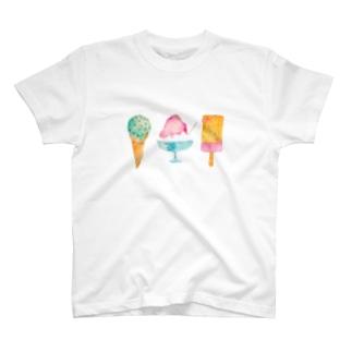 アイスいろいろ Tシャツ