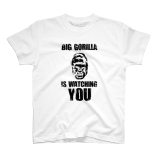 BIG GORILLA IS WATCHING YOU(黒字) Tシャツ