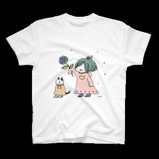 ほっかむねこ屋@10/5~10/10 吉祥寺駅 期間限定ショップの水無月の音・2 Tシャツ