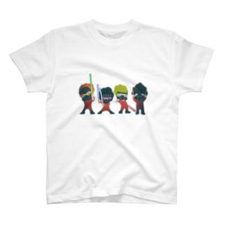 フォース3個分イカス色 Tシャツ