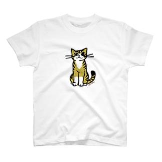 おすわり猫 Tシャツ