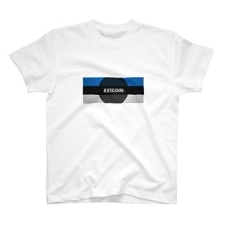 仮想通貨 EST Coin  [C] Tシャツ