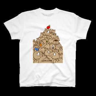 素材屋405番地のウゲロくま山盛りTシャツ