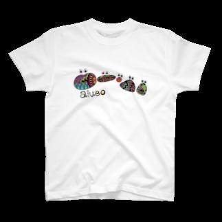 cccc_107のaiueoカラフルTシャツ