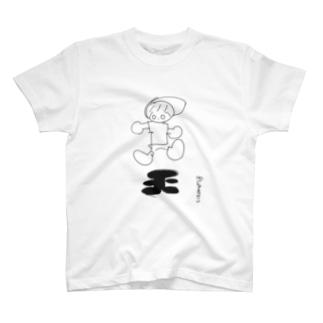 シロ(丸) Tシャツ