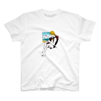 海へ行こう Tシャツ