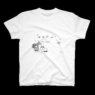 ほっかむねこ屋@9/3−9 東急ハンズ池袋1Fの晴れ時々きんぎょ Tシャツ