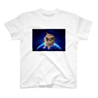 宇宙猫Tシャツ Tシャツ