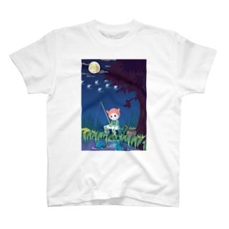 夜釣りはうまくいかない Tシャツ