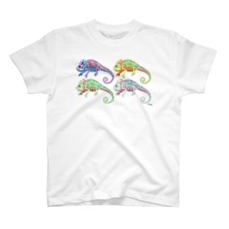 エボシカメレオン4 Tシャツ