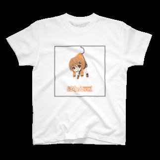 ぽわんちゃんのつままれぽわんちゃんTシャツ