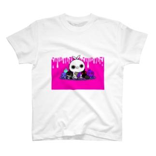 クレイジー闇うさぎ(やみぐるみ) Tシャツ