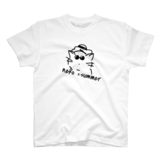 neko × summer Tシャツ
