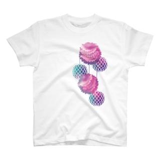 ハニカムポンポン Tシャツ