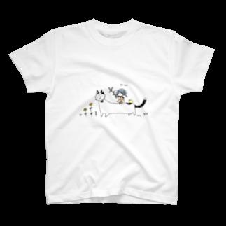 ほっかむねこ屋@9/3−9 東急ハンズ池袋1Fの魚をあげよう Tシャツ