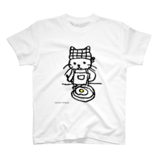 めだまやき焼くねこ Tシャツ