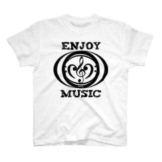 enjoy music Tシャツ