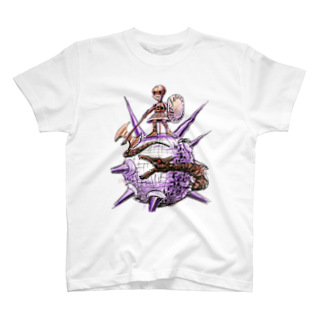 ヤノベケンジアーカイブ&コミュニティのヤノベケンジ《ザ・スター・アンガー》 (戦う少女)TシャツTシャツ