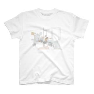 猫とお出かけ Tシャツ