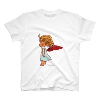 紅い羽の天使 Tシャツ