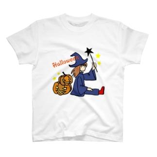 ウィッチとカボチャ Tシャツ