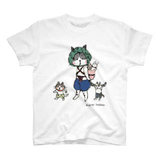 ほっかむねこ屋@ 11/10 11 デザインフェスタ@東京ビッグサイト J68のおんぶねこ Tシャツ