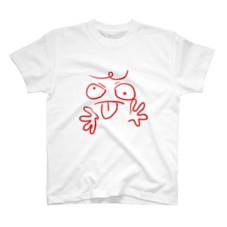 ラクガキガオ Tシャツ