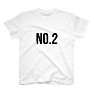 No.2/black Tシャツ