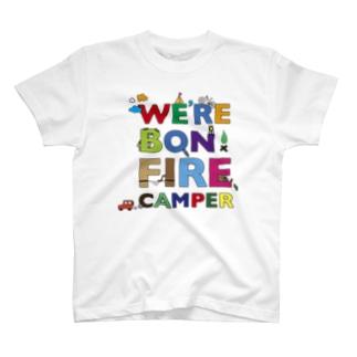 We're Bonfire Camper Colored Tシャツ