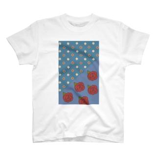 花の見る夢(青) Tシャツ