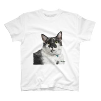 白黒オレオ君(背景なし) Tシャツ