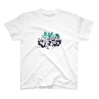 パンダまみれ Tシャツ