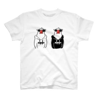 フーディ文鳥双子 Tシャツ