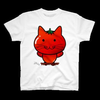 Ally's GoodsのAlly's TOMATO CATTシャツ