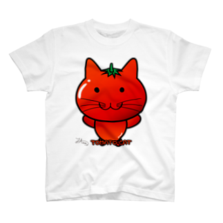 Ally's GoodsのAlly's TOMATO CAT Tシャツ