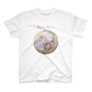 コウノトリと赤ちゃん Tシャツ