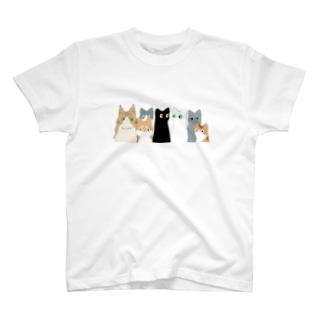 みんなネコチャン Tシャツ