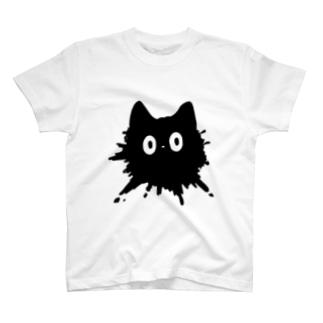 ネコチャンは液体 黒 Tシャツ