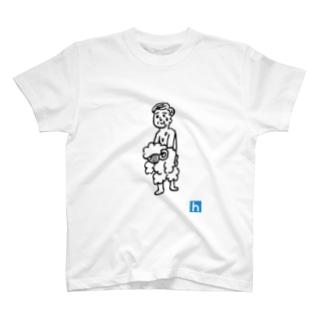 羊の皮を被ったおじさん Tシャツ