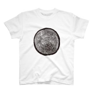 木の年輪 Tシャツ