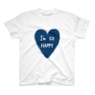 I'm so HAPPY Tシャツ
